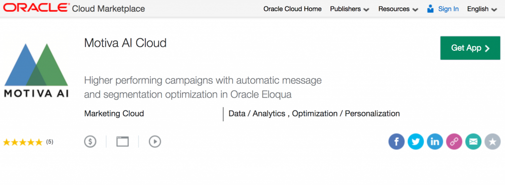 Motiva AI in the Oracle Cloud Marketplace